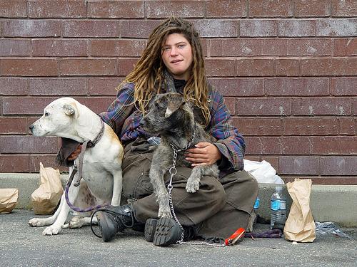 Homeless Girl and Dog